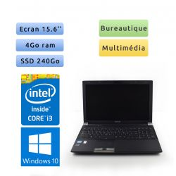 Toshiba Tecra R950 - Windows 10 - i3 4Go 240Go SSD - 15.6 - Webcam - Grade B - Ordinateur Portable PC