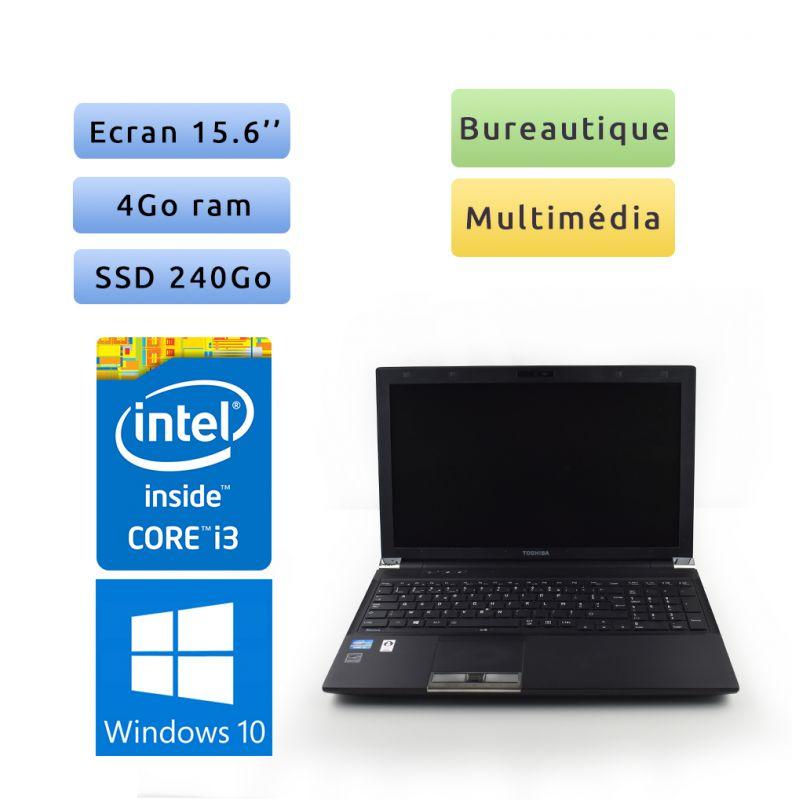 Toshiba Tecra R950 - Windows 10 - i3 4Go 240Go SSD - 15.6 - Webcam - Grade B - Ordinateur Portable PC