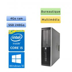 HP 8300 Elite SFF - Windows 10 - i5 4Go 240Go SSD - Port Serie - PC Tour Bureautique Ordinateur