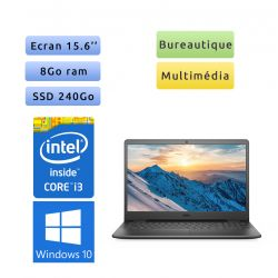 Lot 3 pc portable neuf Dell Vostro 15.6 - Windows 10 - i3 8Go 240Go SSD - Webcam - Ordinateur portable neuf