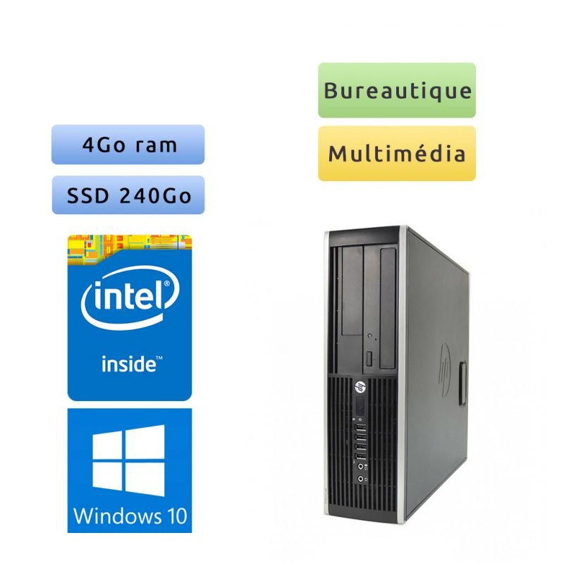 HP Compaq 6005 Pro SFF - Windows 10 - 2.7Ghz 4Go 240go SSD - Port Serie - PC Tour Bureautique Ordinateur