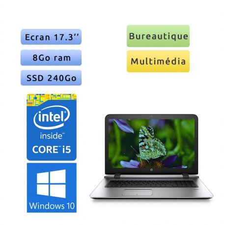 HP Probook 470 G3 - Windows 10 - i5 8Go 240Go SSD - 17.3 - Webcam - Ordinateur Portable PC