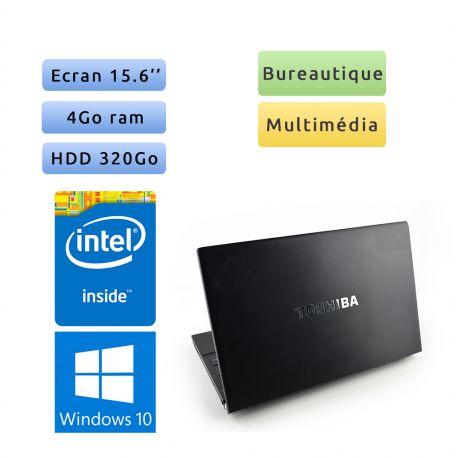 Toshiba Tecra R850 - Windows 10 - 1.9Ghz 4Go 320Go - 15.6 - Webcam - Grade B - Ordinateur Portable PC