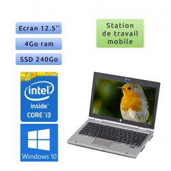 HP EliteBook 2560p - Windows 10 - i3 4Go 240Go SSD - 12.5 - Station de Travail Mobile PC