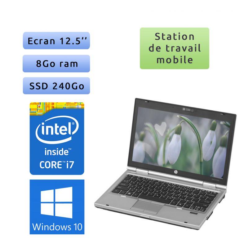 HP EliteBook 2560p - Windows 10 - i7 8Go 240Go SSD - 12.5 - Station de Travail Mobile PC