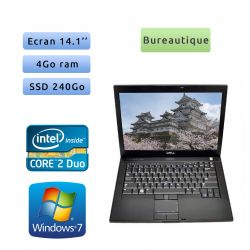Dell Latitude E6400 - Windows 7 - C2D 4Go 240Go SSD - 14.1 - Ordinateur Portable PC