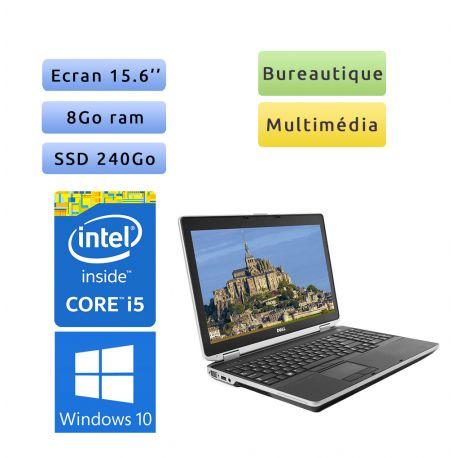 Dell Latitude E6530 - Windows 10 - i5 8Go 240Go SSD - 15.6 - Webcam - Ordinateur Portable PC