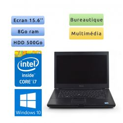 Dell Latitude E6510 - Windows 10 - i7 8Go 500Go - 15.6 - Grade B - Ordinateur Portable PC