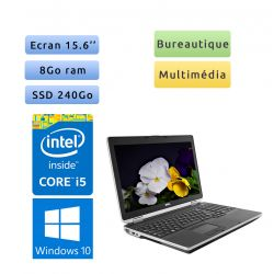 Dell Latitude E6530 - Windows 10 - i5 8Go 240Go SSD - 15.6 - Webcam - Ordinateur Portable PC