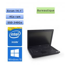 Dell Latitude E5400 - Windows 10 - 2Ghz 4Go 240Go SSD - 14.1 - Grade B - Ordinateur Portable PC