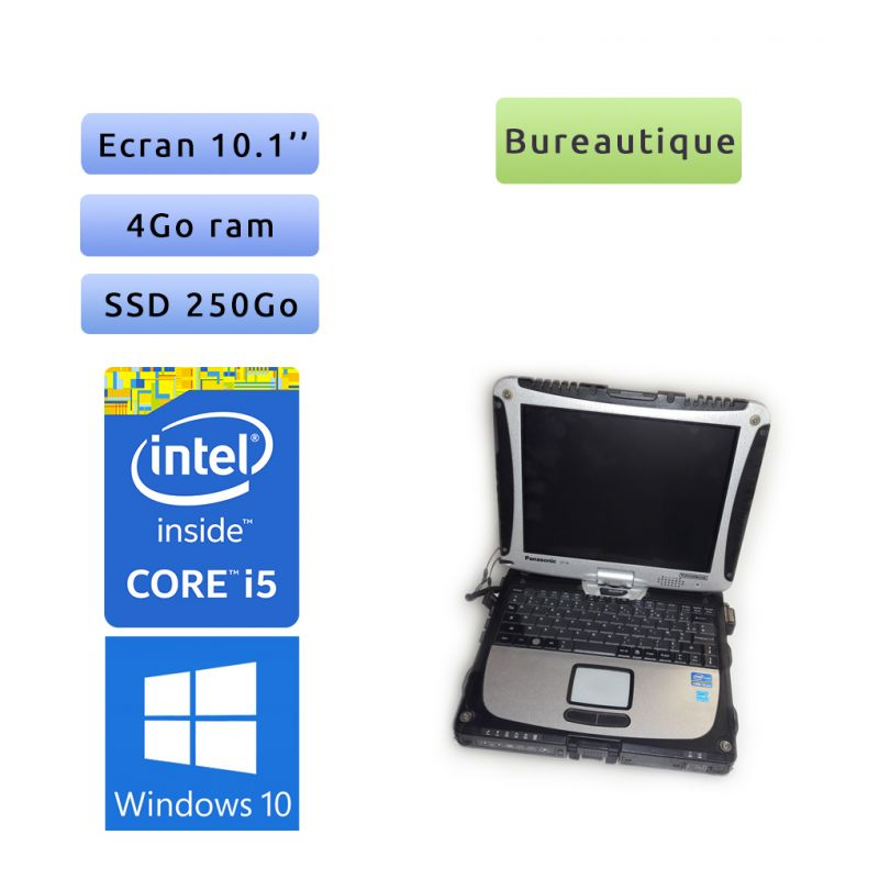 Panasonic Toughbook CF-19 MK6 - Windows 10 - i5 4Go 250Go SSD - Tablet PC