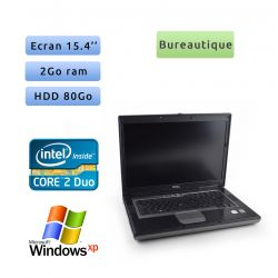 Dell Latitude D830 - Windows XP - C2D 2.2Ghz 2Go 80Go - 15.4 - Port Serie - Ordinateur Portable PC