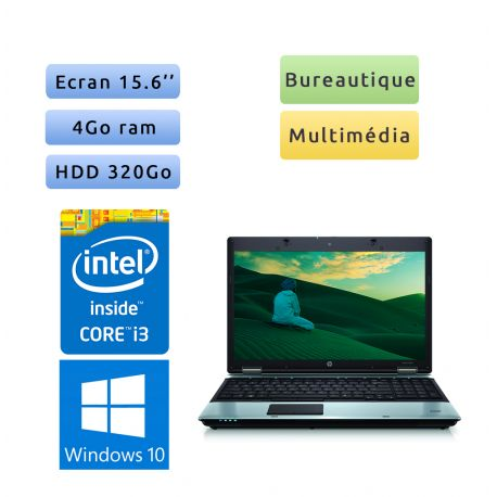 HP Compaq 6550b - Windows 10 - i3 4Go 320Go - Ordinateur Portable PC