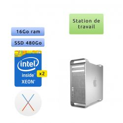 Apple Mac Pro Eight Core Xeon 2.4Ghz - A1289 (EMC 2314-2) - 16Go 480Go SSD - MacPro5,1 - Station de Travail