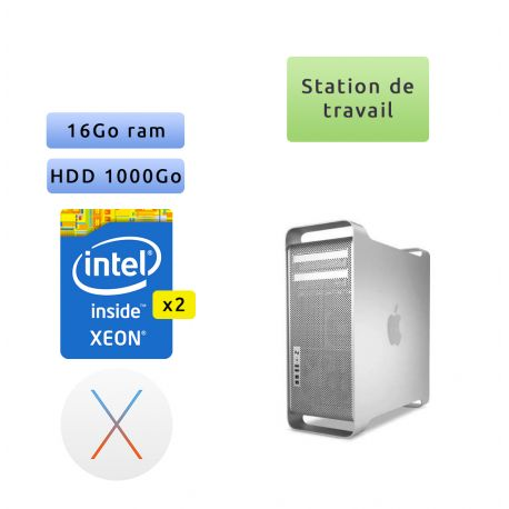 Apple Mac Pro Twelve Core 2.4Ghz A1289 (EMC 2629) 16Go 1To - MacPro5.1 - mi 2012 - Station de Travail