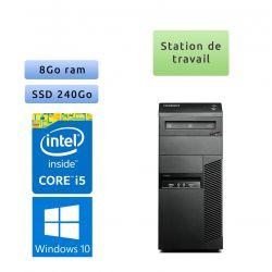 Lenovo ThinkCenter M83 - Windows 10 - i5 8Go 240Go SSD - Port Serie - Station de travail Tour