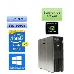 HP Workstation Z600 - Windows 10 - 2x E5620 8Go 500Go SSD - Ordinateur Tour Workstation PC