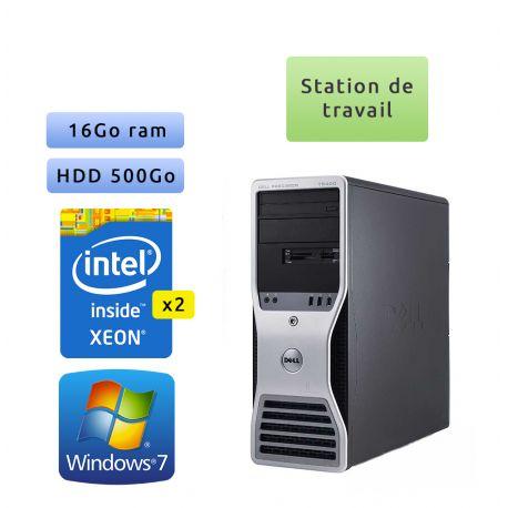 Dell Precision T5400 - Windows 7 - 2x E5410 16Go 500Go - Ordinateur Tour Workstation PC