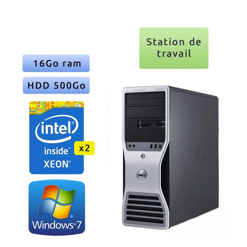 Dell Precision T5400 - Windows 7 - 2x E5410 16Go 500Go - Port Serie et port parallele - Ordinateur Tour Workstation PC