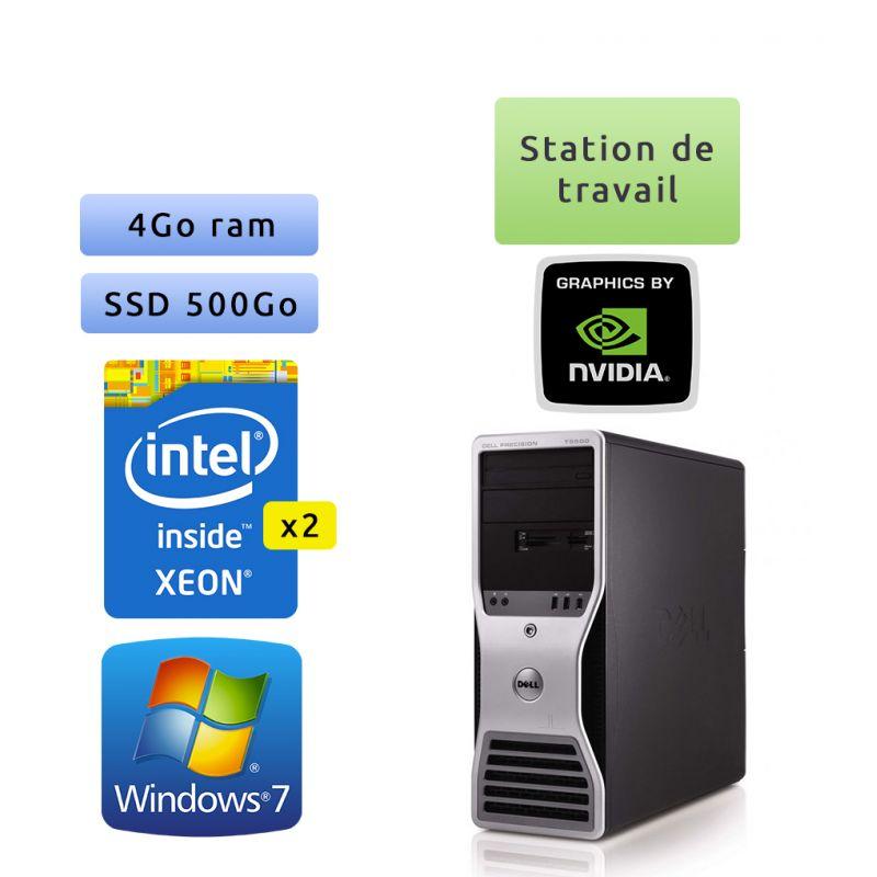 Dell Precision T5500 - Windows 7 - 2x E5506 4Go 500Go SSD - Quadro FX 1500 - Port Serie et Parallele - Ordinateur Tour Workstati
