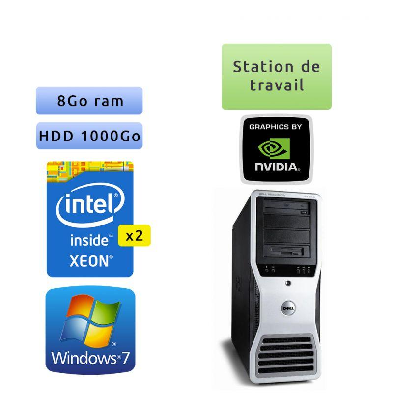 Dell Precision T7400 - Windows 7 - 2x E5420 8Go 1To - Port serie et port parallele - Ordinateur Tour Workstation PC