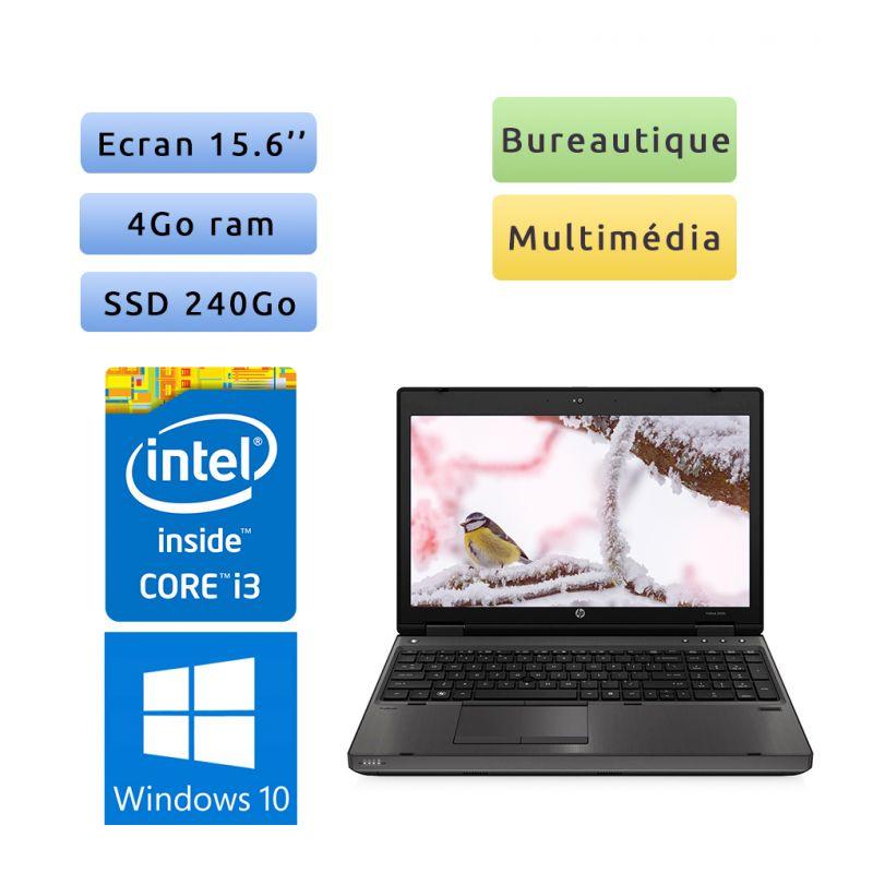 HP Probook 6560b - Windows 10 - i3 4Go 240Go SSD - 15.6 - Webcam - Port Serie - Ordinateur Portable PC