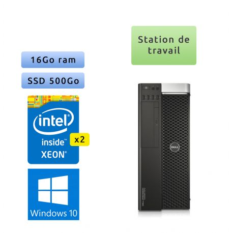 Dell Precision T8710 - Windows 10 - 2*Xeon E5-2650v3 16Go 500Go SSD - Port Serie - Ordinateur Tour Workstation PCl