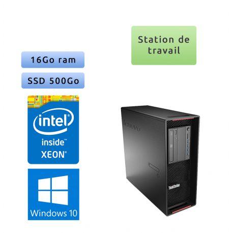 Lenovo ThinkStation P500 - Winodws 10 - E5 1630 v3 16Go 500Go SSD - Port Serie - Ordinateur Tour Workstation PC