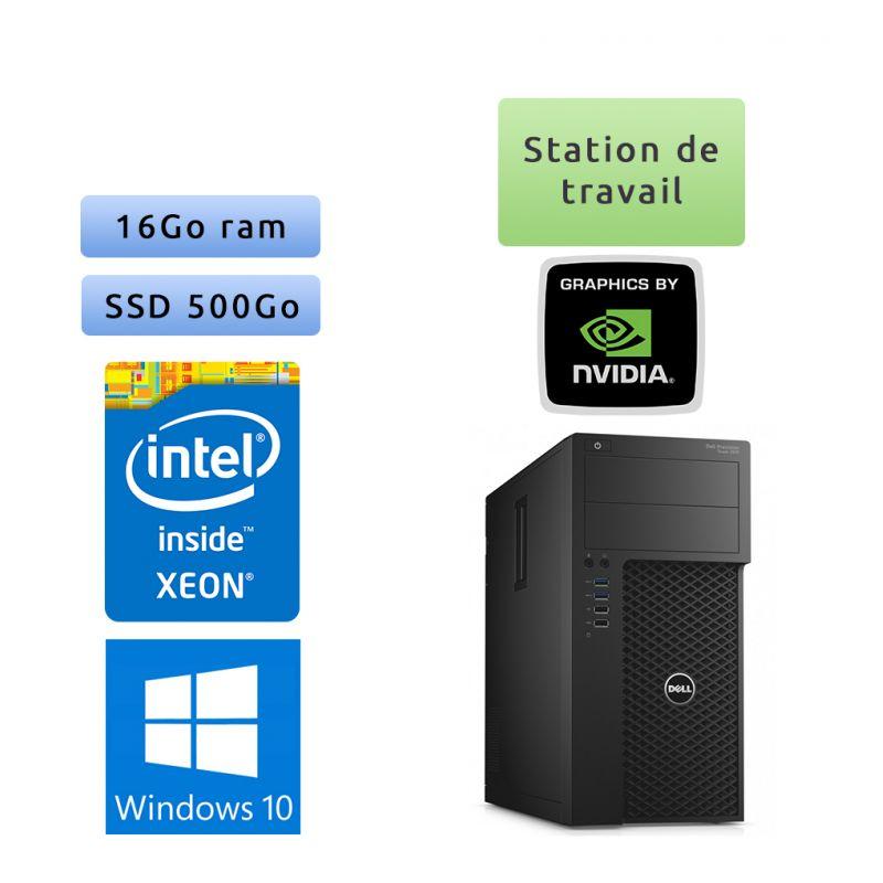 Dell Precision T3620 - Windows 10 - E3-1270 v5 16Go 500Go SSD - M4000 - Ordinateur Tour Workstation PC