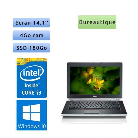 Dell Latitude E6420 - Windows 10 - i3 4Go 180Go SSD - 14.1 - Webcam - Ordinateur Portable PC