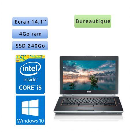 Dell Latitude E6420 - Windows 10 - i5 4Go 240Go SSD - 14.1 - Ordinateur Portable PC