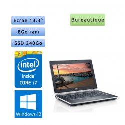 Dell Latitude E6320 - Windows 10 - i7 8Go 240Go - 13.3 - Webcam - Ordinateur Portable PC