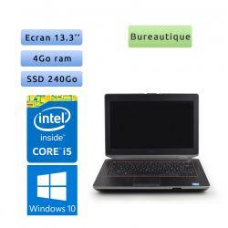 Dell Latitude E6420 - Windows 10 - i5 4Go 240Go SSD - 13.3 - Grade B - Ordinateur Portable PC