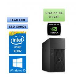 Dell Precision T3620 - Windows 10 - E3-1270 v5 16Go 500Go SSD - Port Serie - Ordinateur Tour Workstation PC