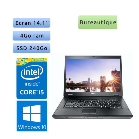 Dell Latitude E5410 - Windows 10 - i5 4Go 240Go SSD - 14.1 - Webcam - Ordinateur Portable PC