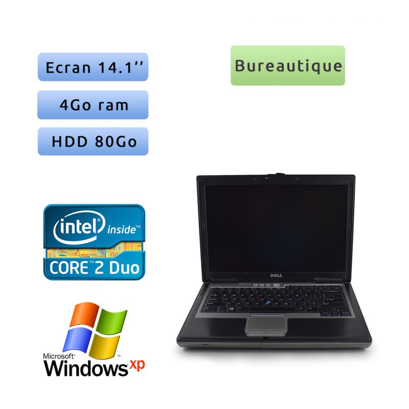 Dell Latitude D630 - Windows XP - C2D 2.2Ghz 2Go 80Go - 14.1 - Port Serie - Grade B - Ordinateur Portable PC