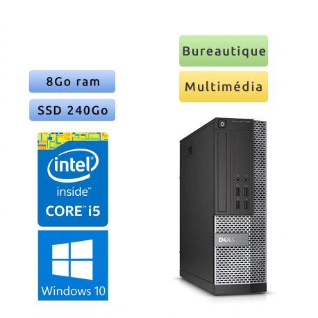 Dell Optiplex 7020 SFF - Windows 10 - i5 8Go 240Go SSD - Port Serie - Ordinateur Tour Bureautique PC