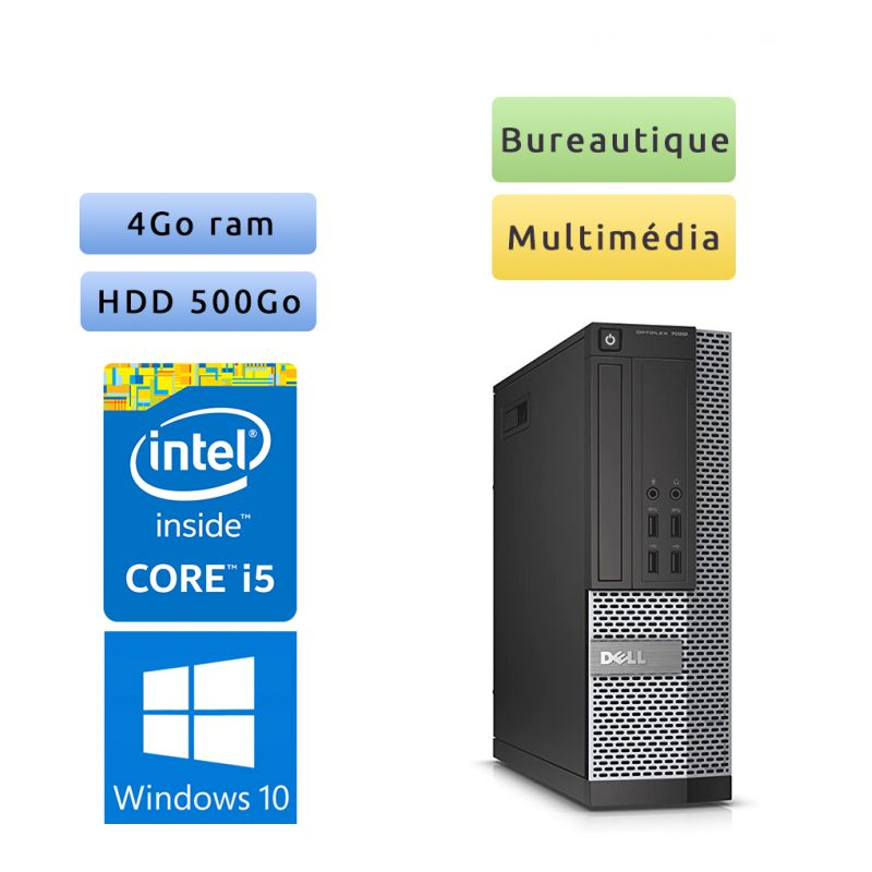 Dell Optiplex 7020 SFF - Windows 10 - i5 4Go 500Go - Port Serie - Ordinateur Tour Bureautique PC