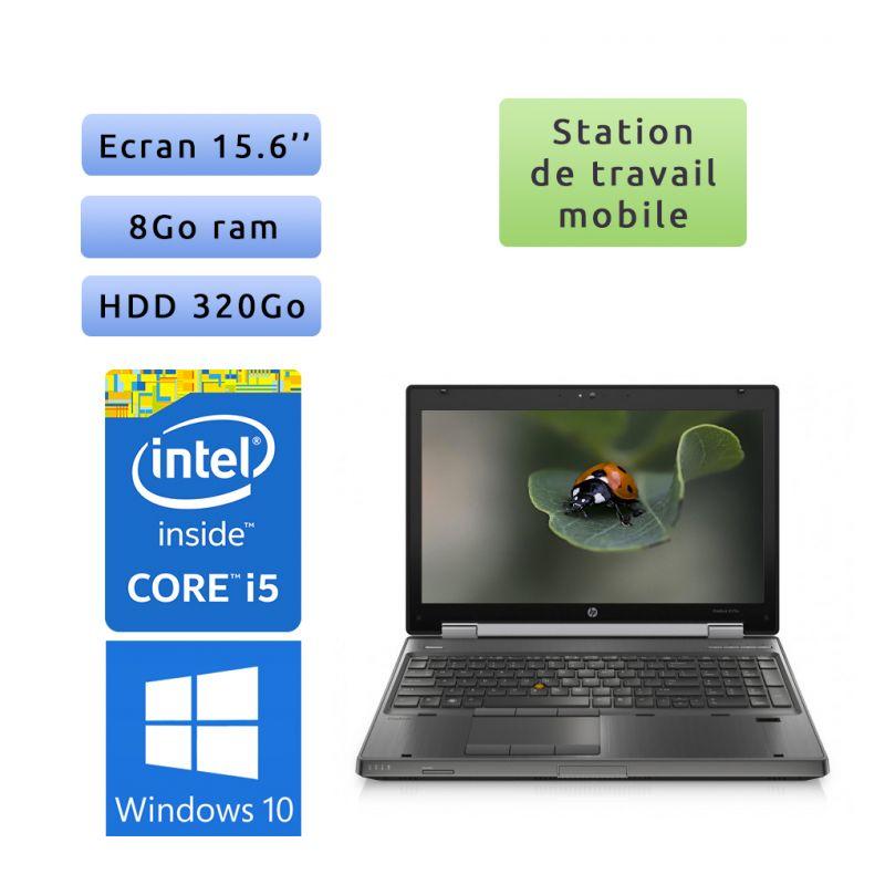 HP EliteBook 8560w - Windows 10 - i5 8Go 320Go - 15.6 - Station de Travail Mobile PC Ordinateur