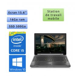 HP EliteBook 8560w - Windows 10 - i5 16Go 500Go SSD - 15.6 - Station de Travail Mobile PC Ordinateur