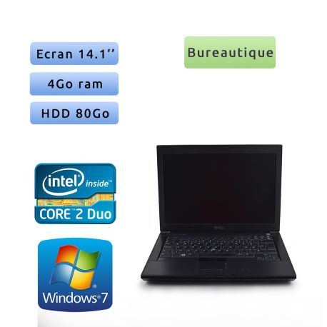 Dell Latitude E6400 - Windows 7 - C2D 2.4Ghz 4Go 80Go - 14.1 - Grade B - Ordinateur Portable PC