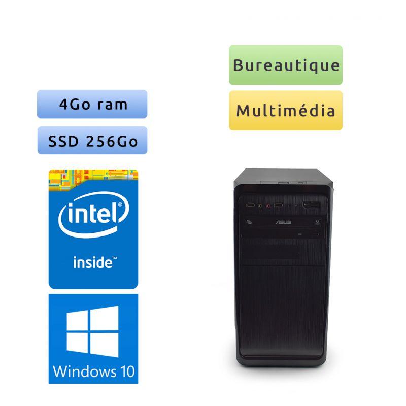 Tour assemblée - Windows 10 - 3.3Ghz 4Go 256Go SSD - Ordinateur Tour Bureautique PC