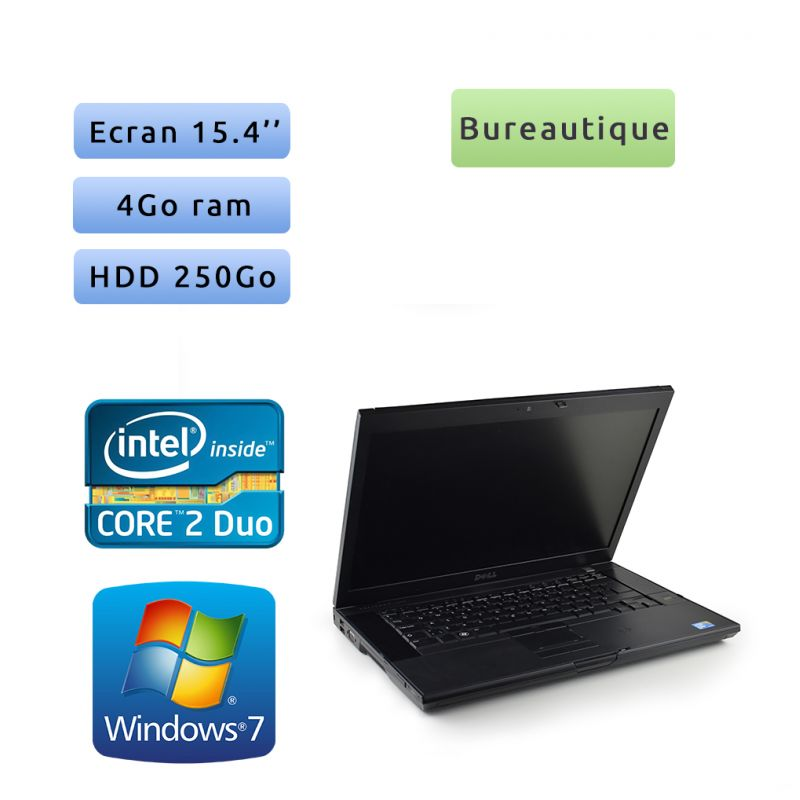 Dell Latitude E6500 - Windows 7 - C2D 2.53Ghz 4Go 250Go - 15.4 - Grade B - Ordinateur Portable PC
