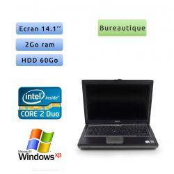Dell Latitude D620 - Windows XP - C2D 1.66Ghz 2Go 60Go - 14.1 - Port Serie - Grade B - Ordinateur Portable PC