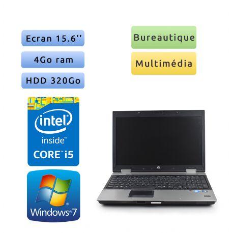 HP EliteBook 8540p - Windows 7 - i5 4Go 320Go - 15.6 - Grade B - Ordinateur Portable PC