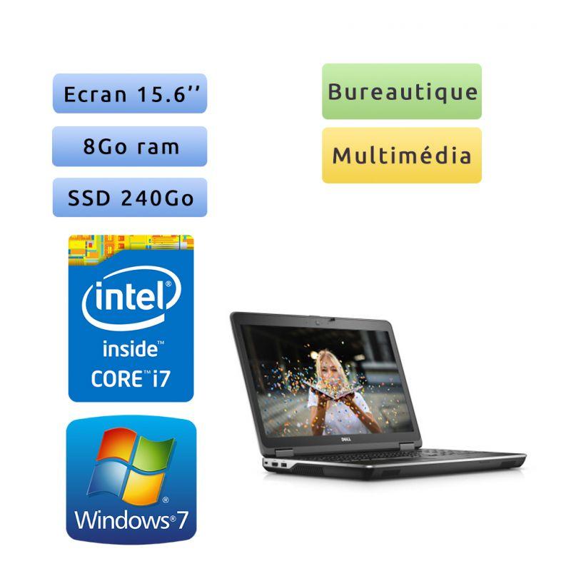 Dell Latitude E6540 - Windows 7 - i7 8Go 240Go SSD - 15.6 - Ordinateur Portable