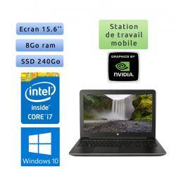 HP Zbook 15 G3 - Windows 10 - i7 8Go 240Go SSD - 15.6 - Station de Travail Mobile PC Ordinateur