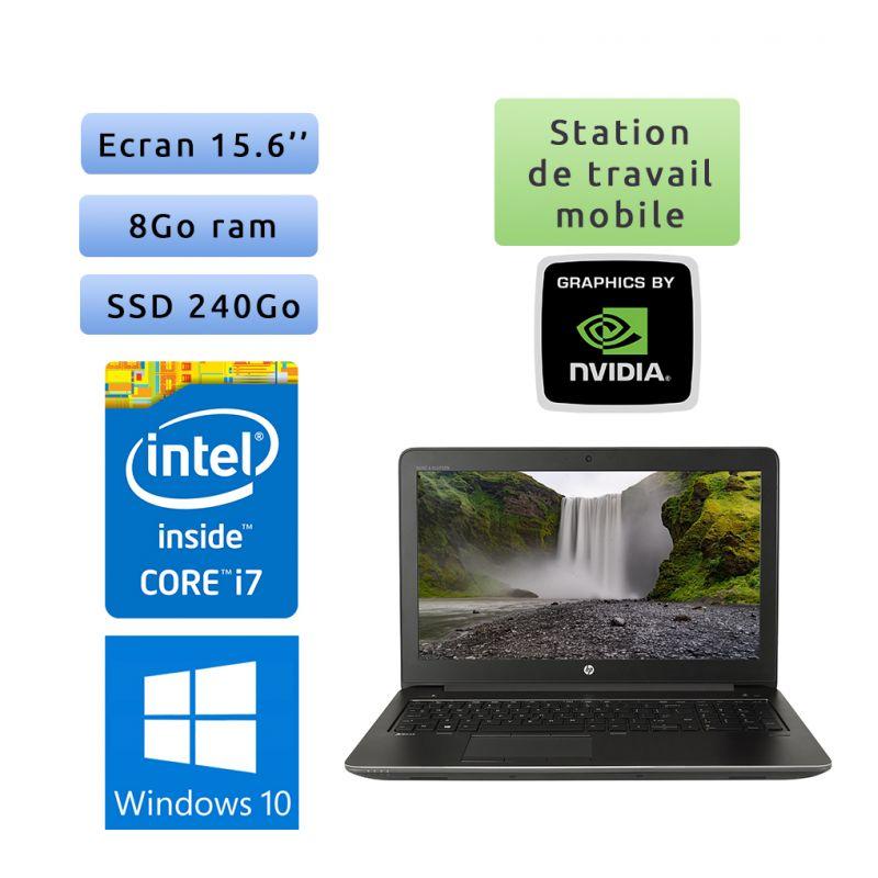 HP Zbook 15 G3 - Windows 10 - i7 8Go 240Go SSD - 15.6 - Webcam - M1000M - Station de Travail Mobile PC Ordinateur