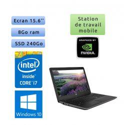HP Zbook 15 G3 - Windows 10 - i7 8Go 240Go SSD - 15.6 - Webcam - M600M - Station de Travail Mobile PC Ordinateur