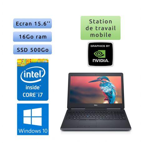 Dell Precision 7510 - Windows 10 - i7 16Go 500Go SSD - 15.6 - Webcam - M2000M - Station de Travail Mobile PC Ordinateur